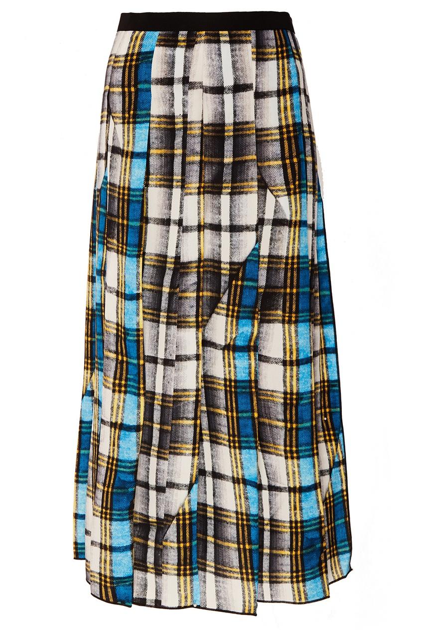 Шелковая юбка-миди в клетку Marc Jacobs