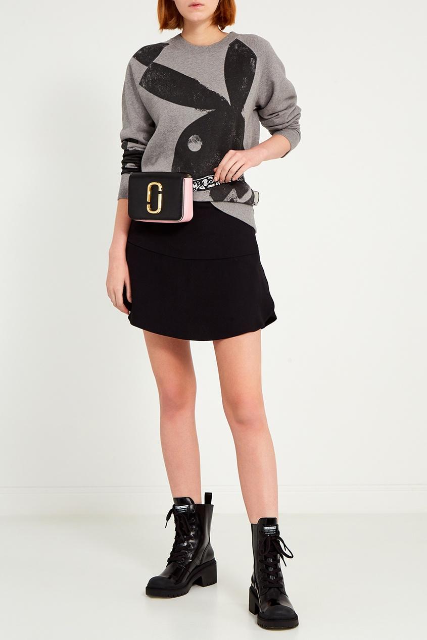 женский свитшот marc jacobs, серый