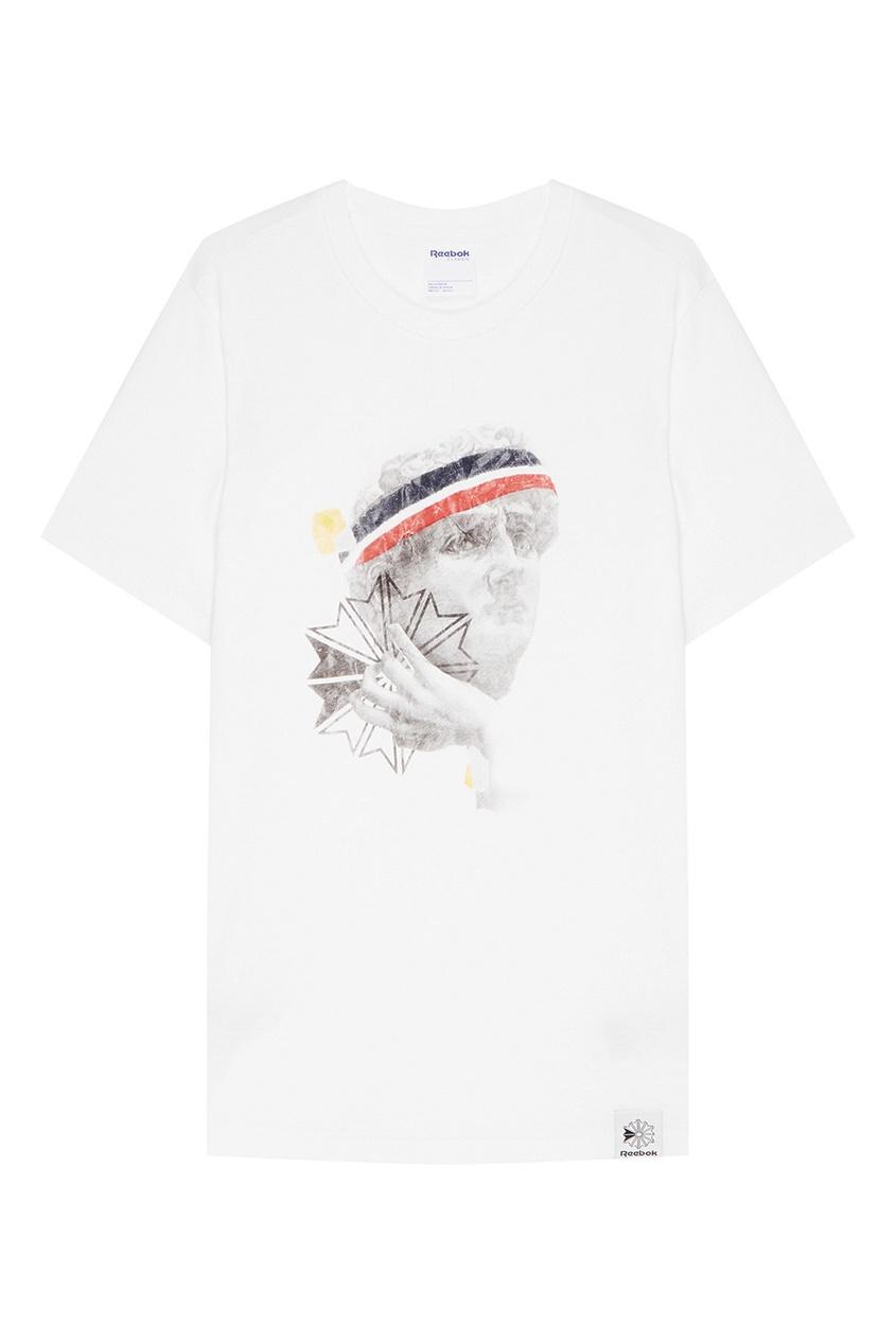 Хлопковая футболка с цветным принтом