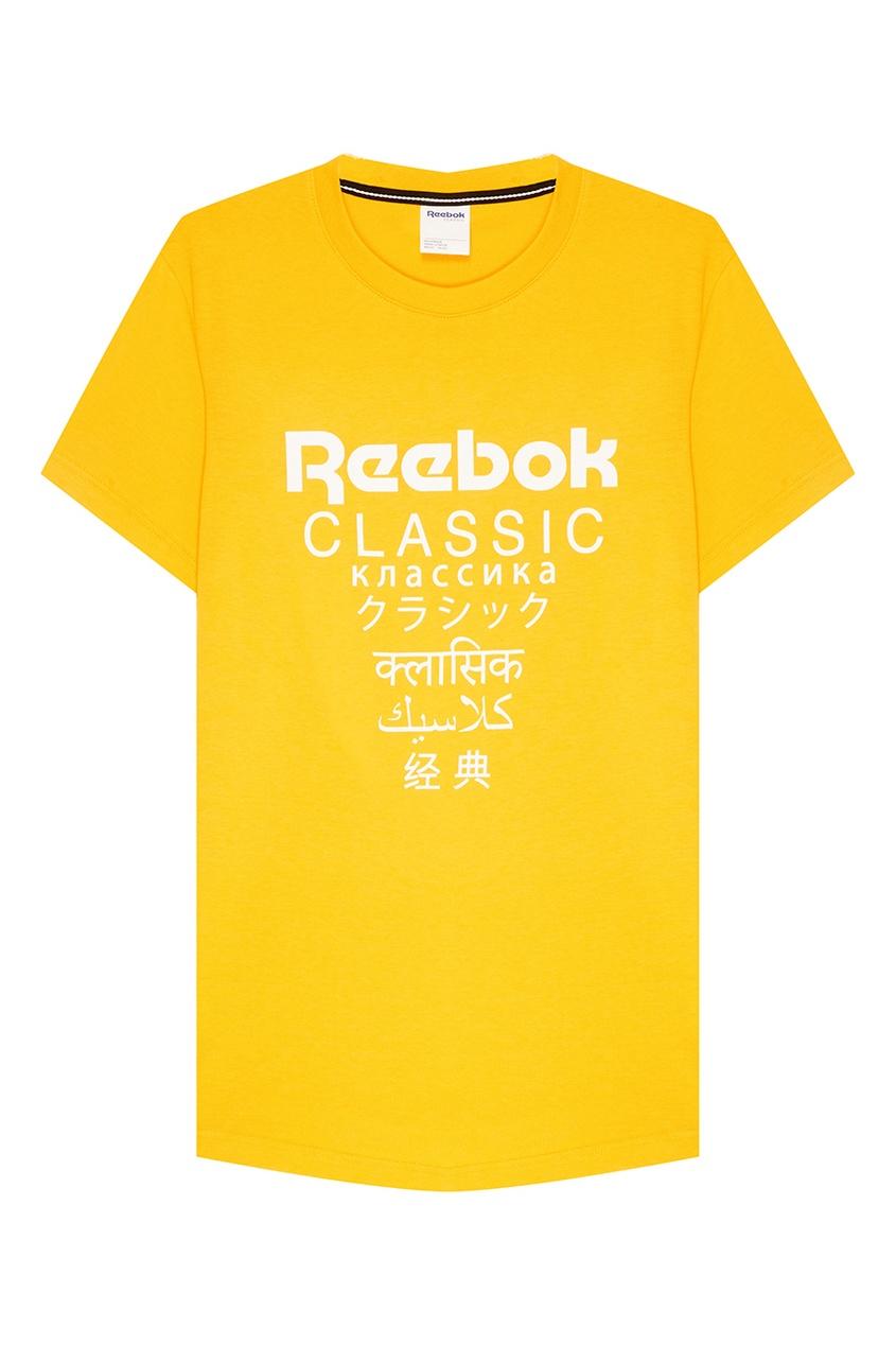 Reebok Хлопковая футболка с логотипом