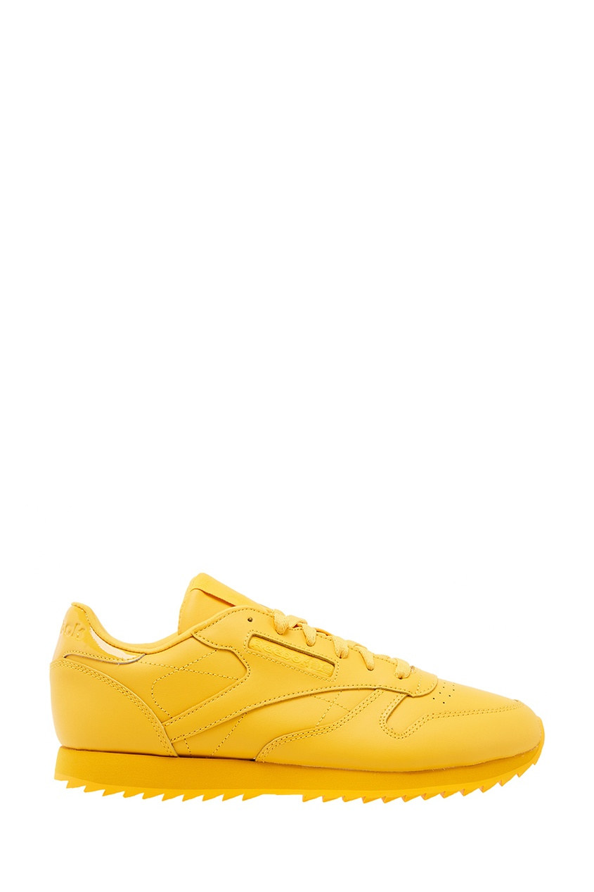 Reebok Желтые кожаные кроссовки reebok кожаные кроссовки classic leather