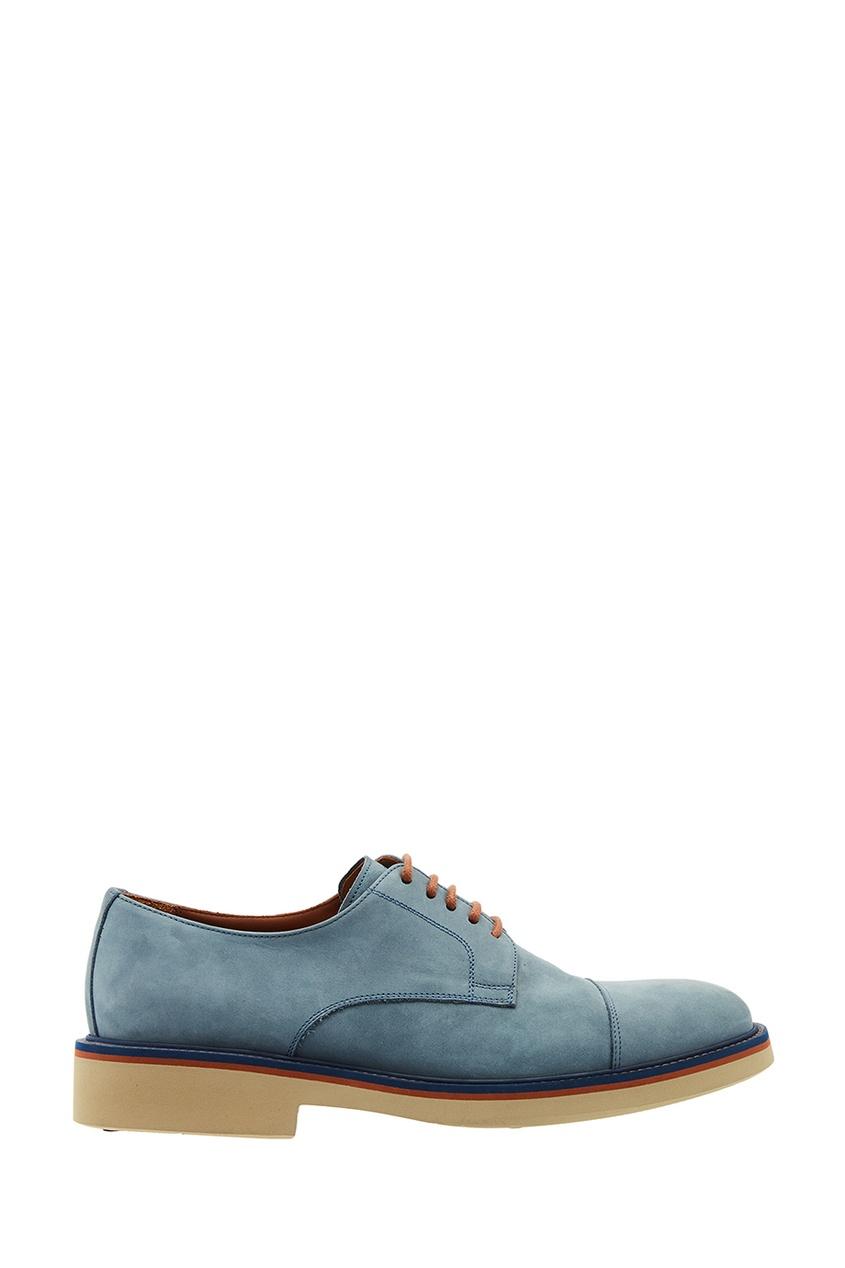 Купить со скидкой Голубые ботинки с цветной подошвой