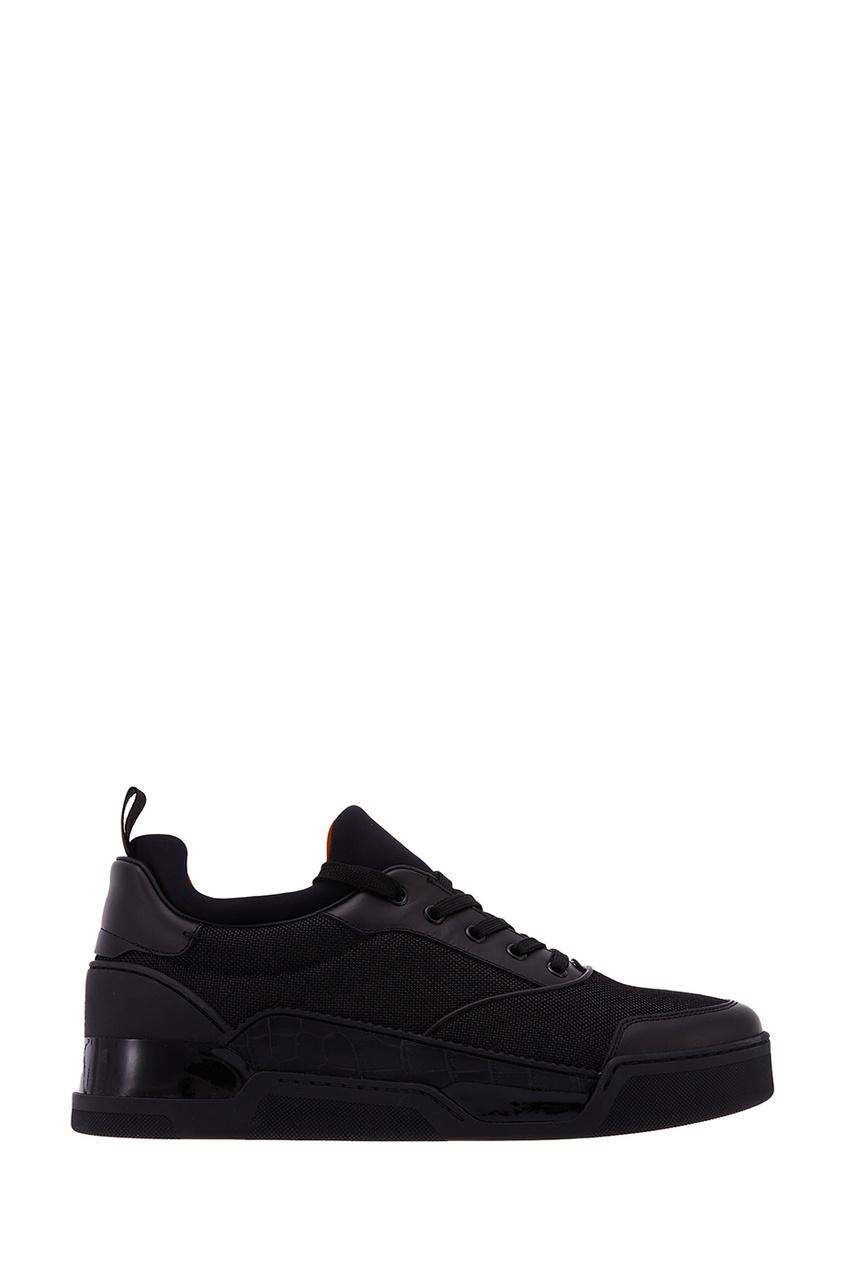 Черные кроссовки Aurelien Flat Calf Christian Louboutin