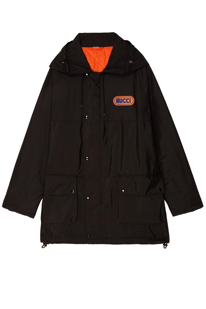 Купить Черная куртка с логотипом от Gucci Man черного цвета