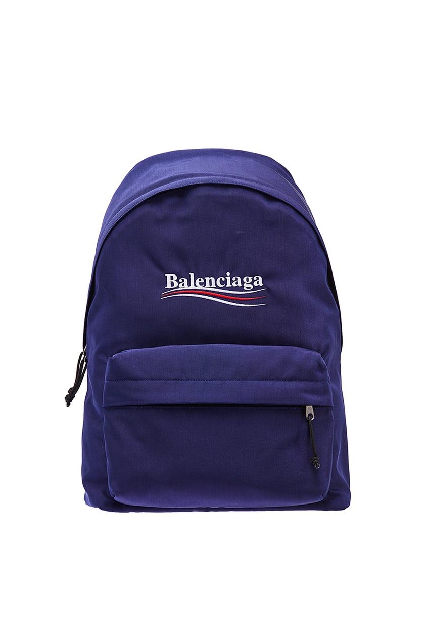 Синий рюкзак с логотипом