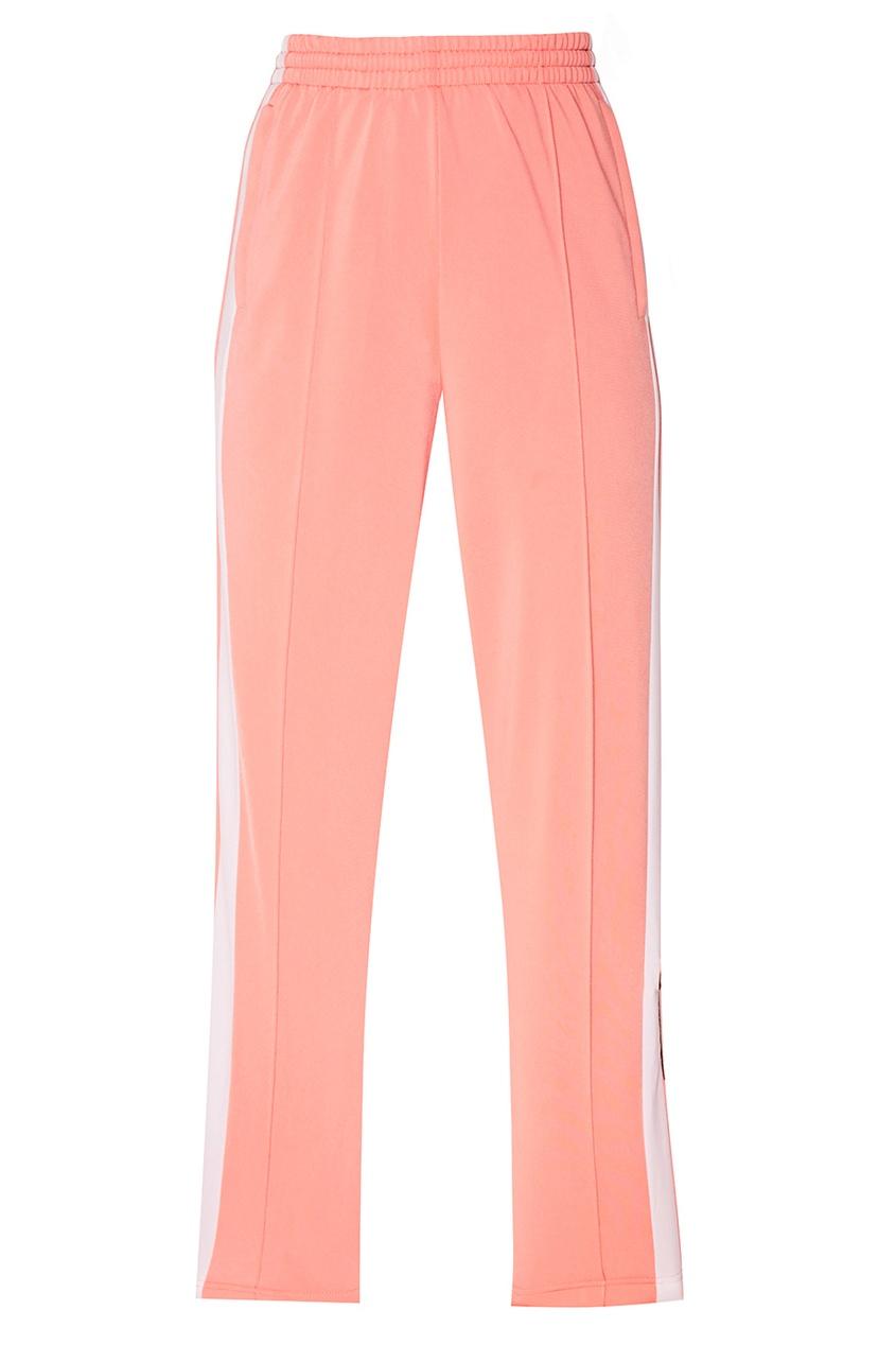 Adidas Розовые брюки с лампасами constance c белые брюки с кнопками
