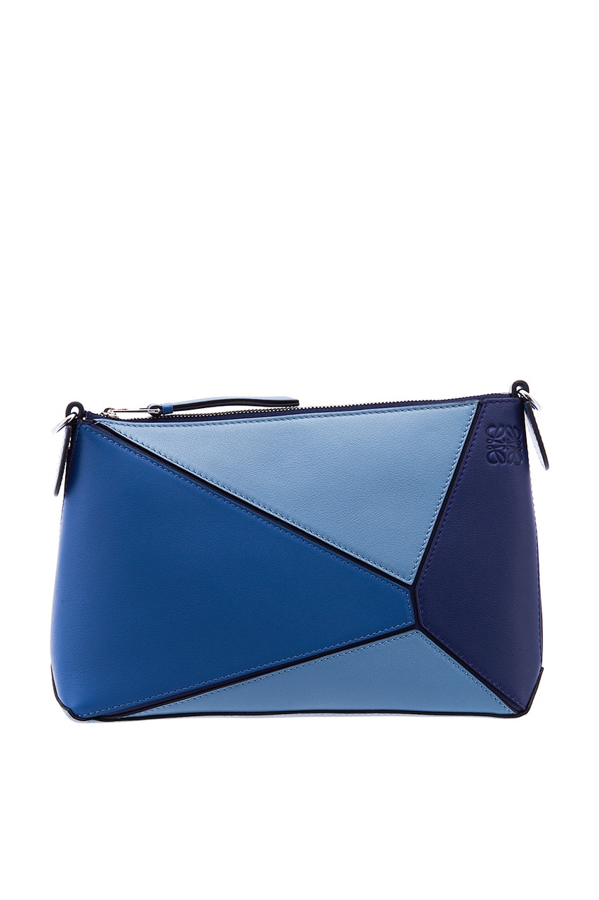 Кожаная сумка с геометрическим дизайном Puzzle