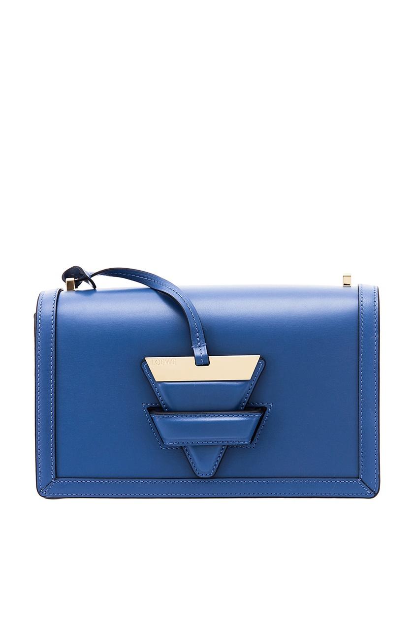 LOEWE Синий клатч с фигурной застежкой клатч galib клатч