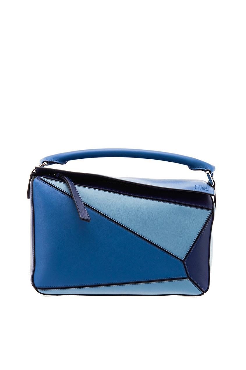 LOEWE Цветная кожаная сумка с клапаном Puzzle