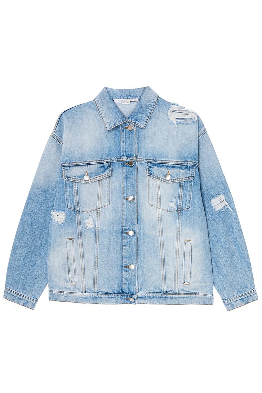 Stella McCartney Потертая джинсовая куртка stella mccartney джинсовая куртка со звездами