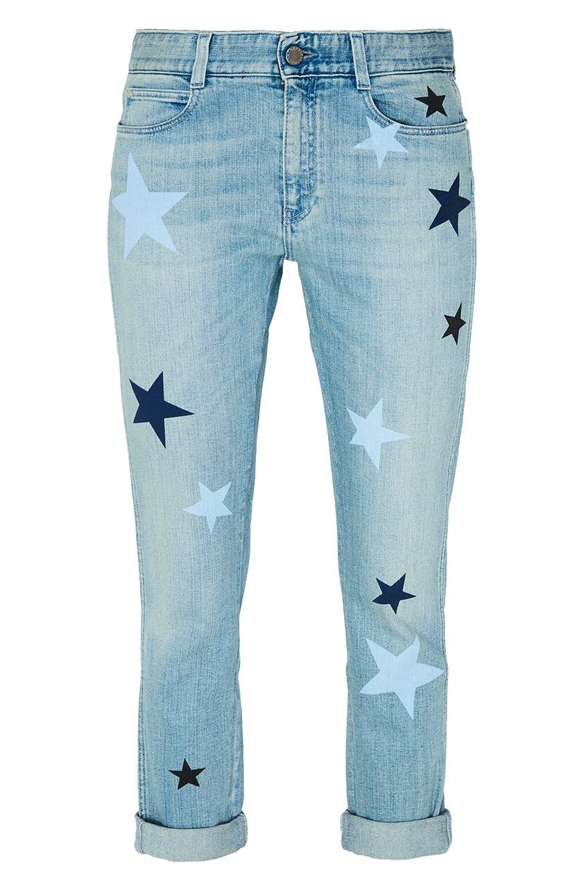 Stella McCartney Голубые джинсы со звездами