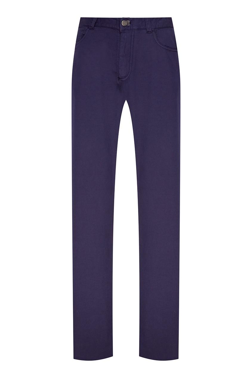 Canali Синие хлопковые брюки etro синие хлопковые брюки