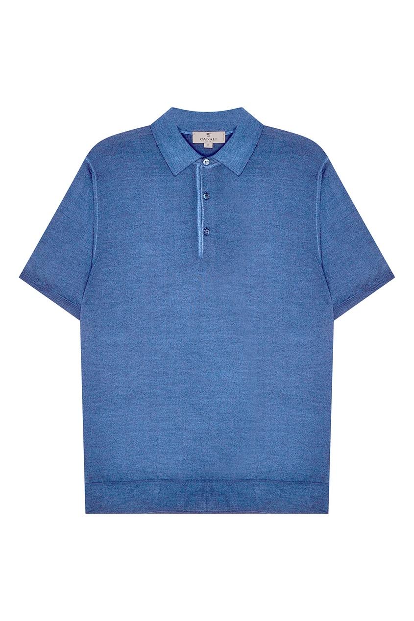 Купить Поло голубого цвета от Canali голубого цвета