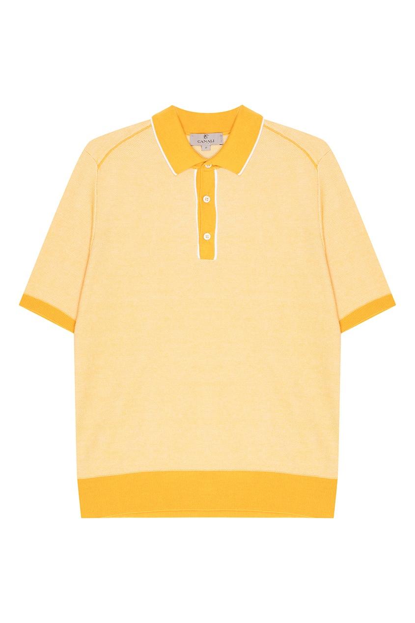 мужское поло canali, желтое