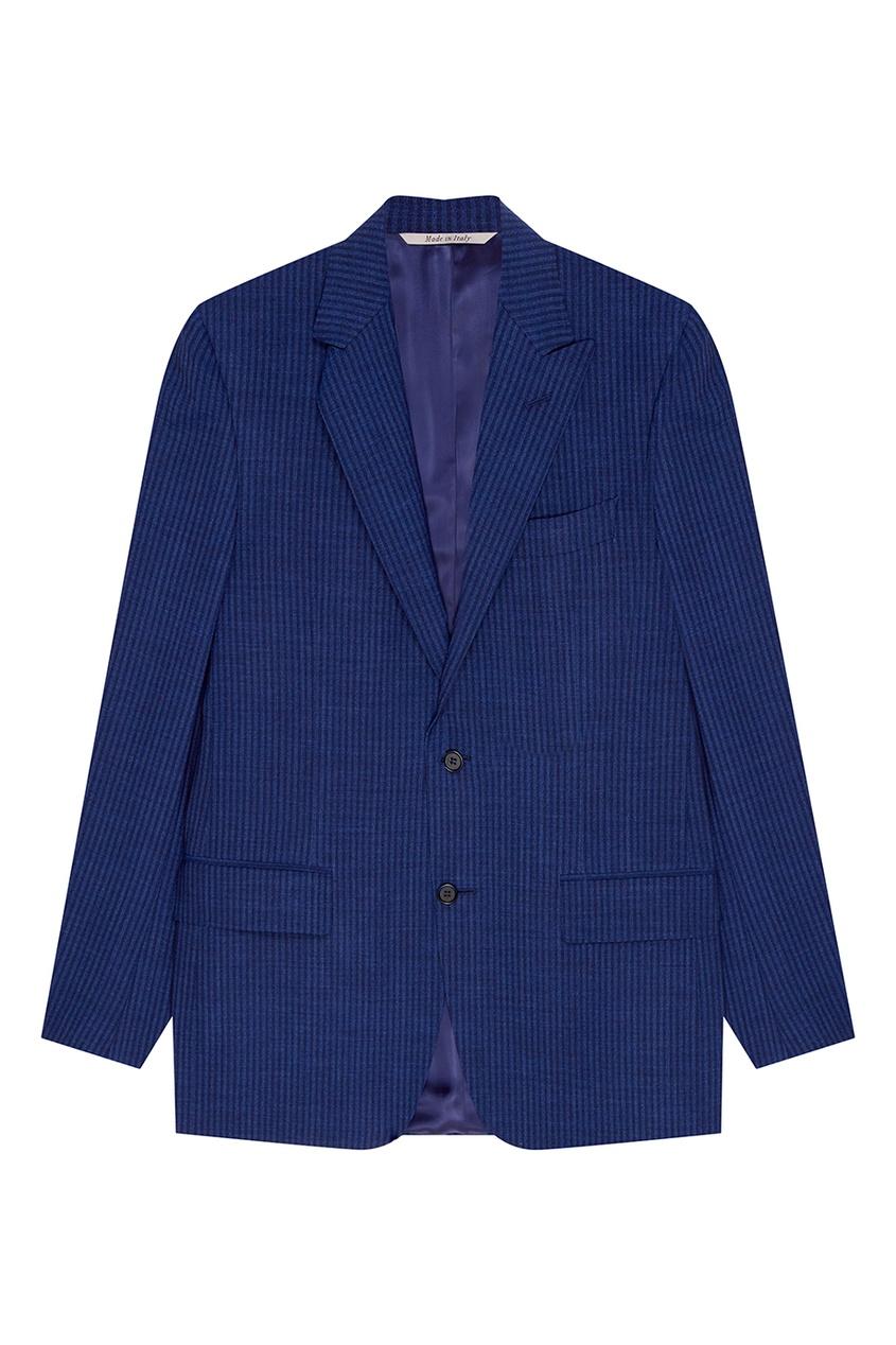 Синий костюм с полоску