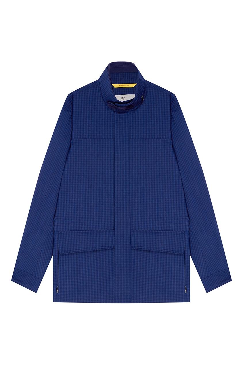 Купить Синяя куртка из шерсти в клетку от Canali синего цвета