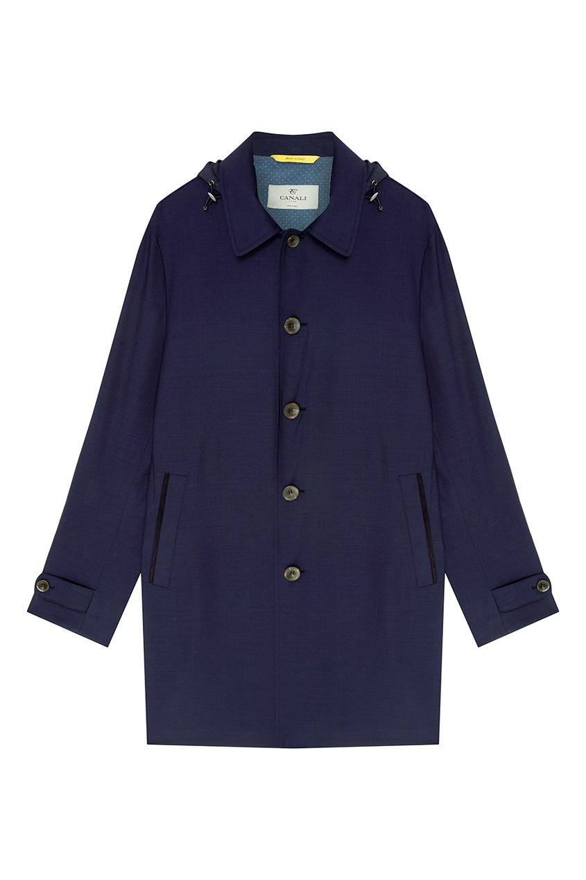 мужское пальто canali, синее