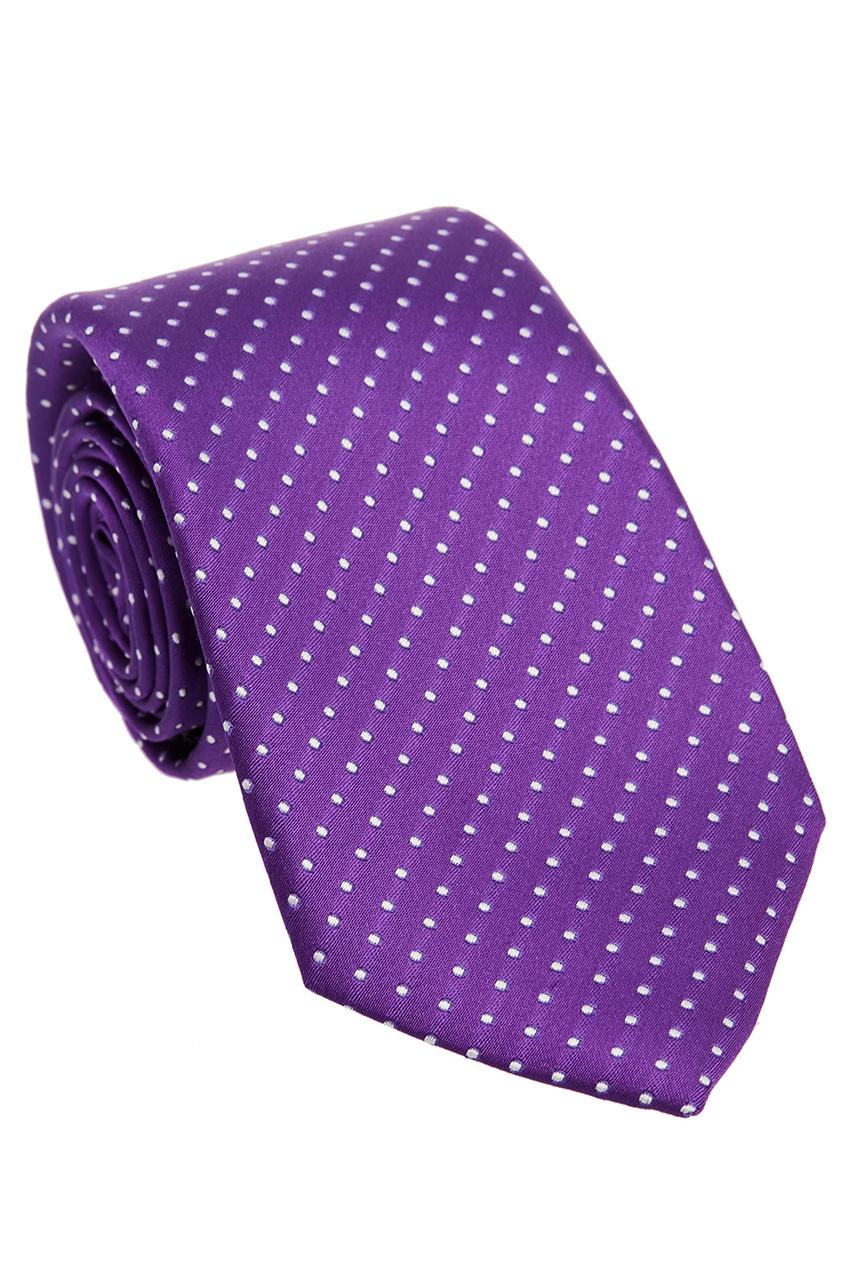 Canali Фиолетовый галстук в горошек clubseta мужской фиолетовый галстук слегка переливается clubseta 7983