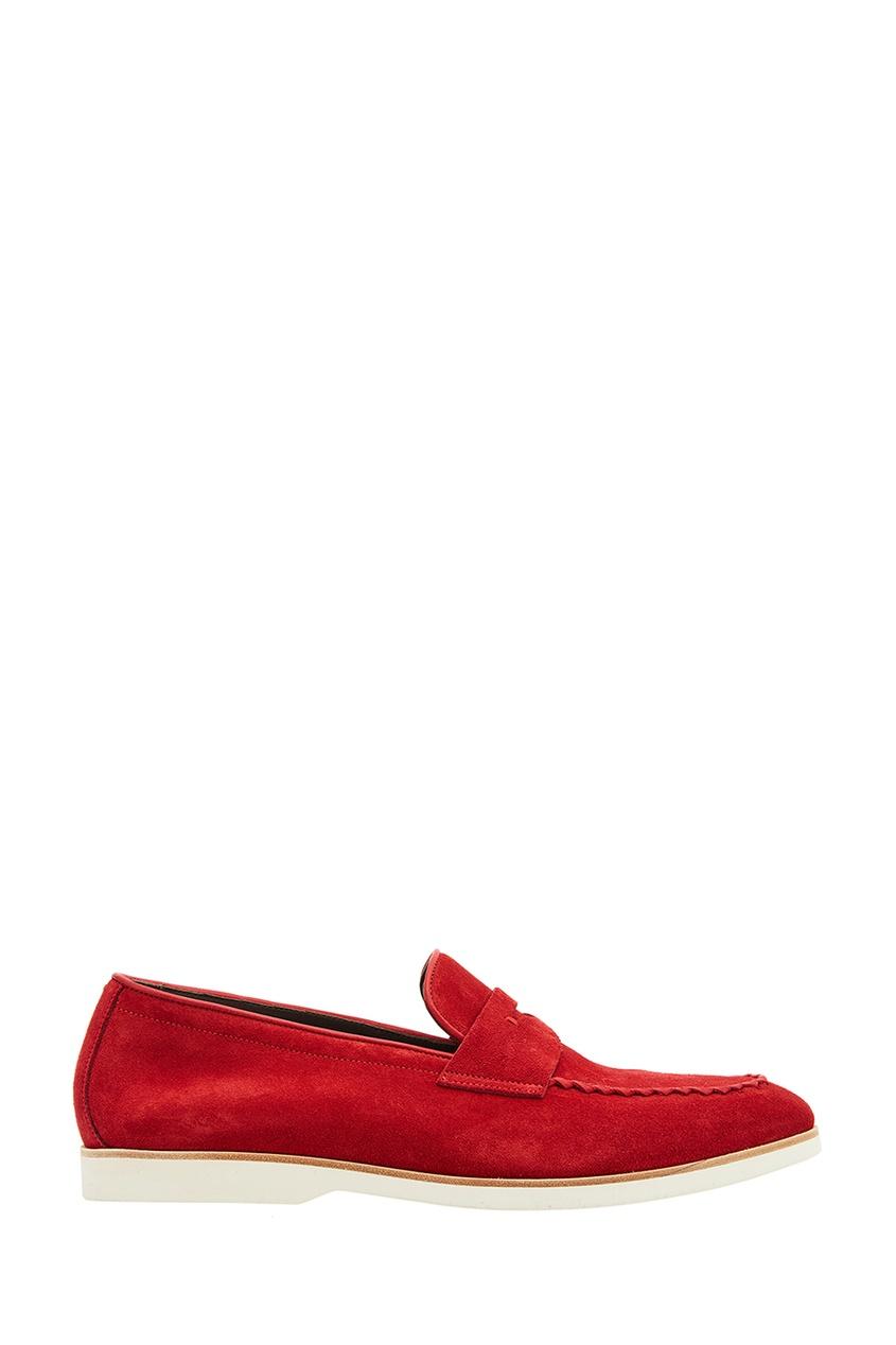 мужские туфли canali, красные