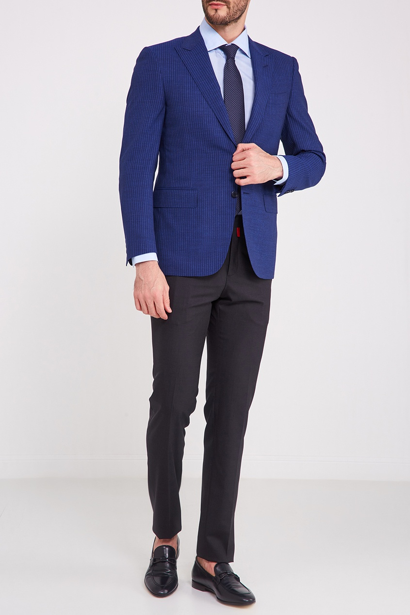 мужские туфли canali, синие