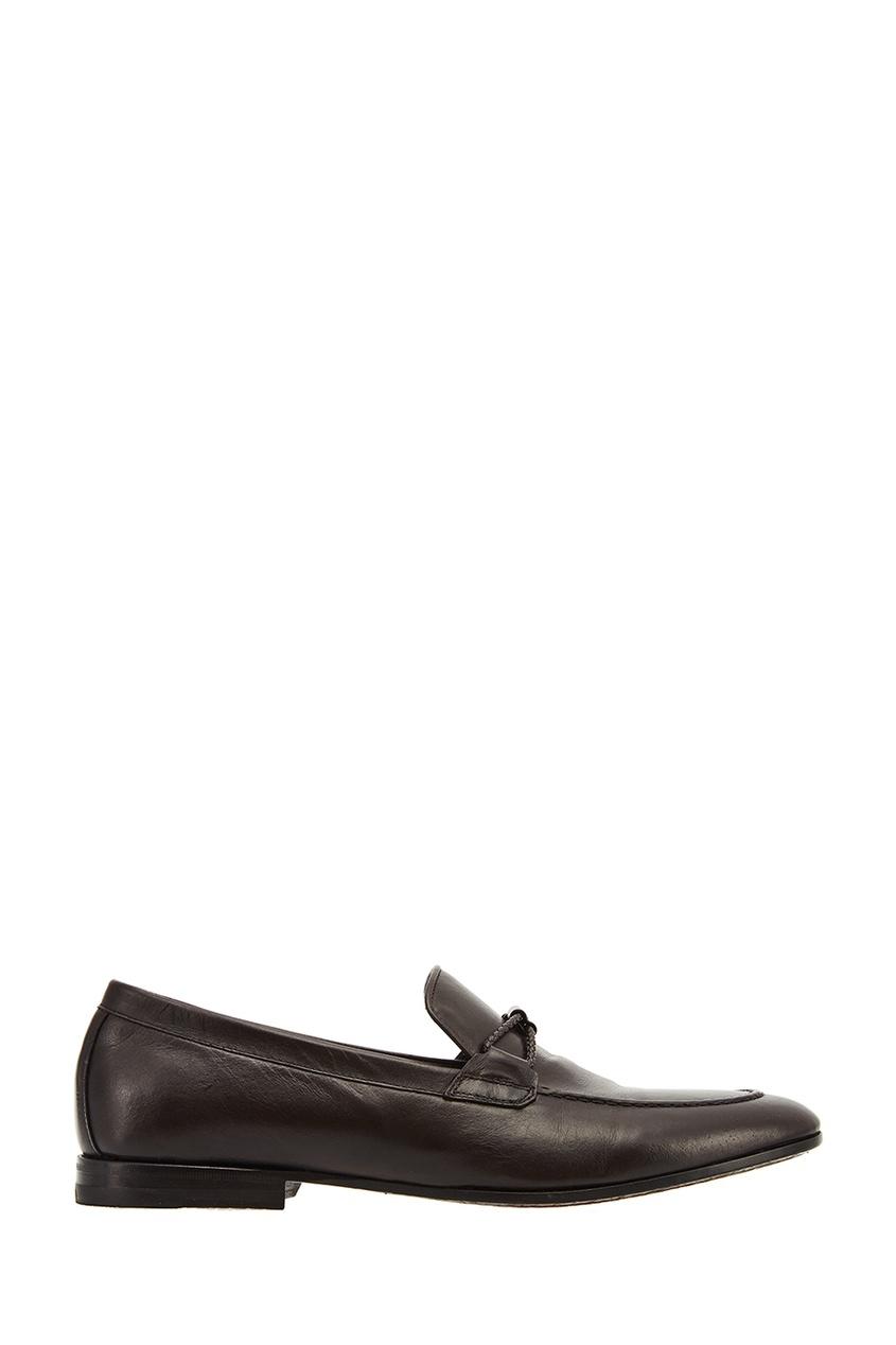 Canali Коричневые кожаные туфли christian louboutin туфли lady peep 150
