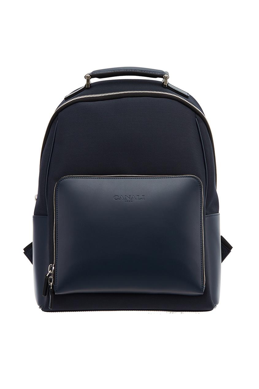 Комбинированный синий рюкзак
