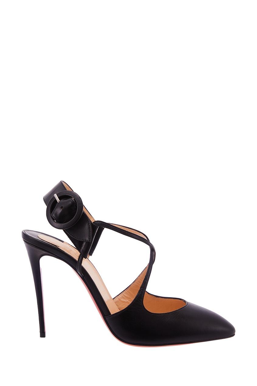 Черные кожаные туфли Hollandway 100 Christian Louboutin
