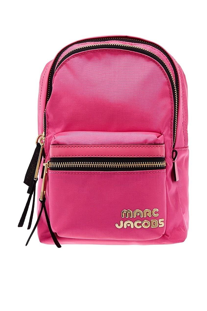 Розовый рюкзак с логотипом
