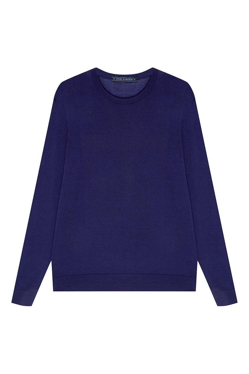 Купить Синий шерстяной джемпер от KITON синего цвета