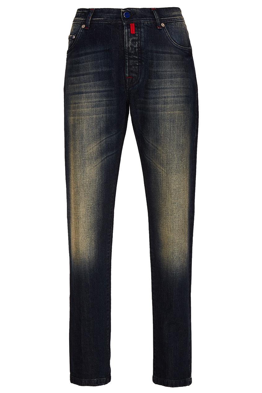Купить Потертые джинсы от KITON синего цвета