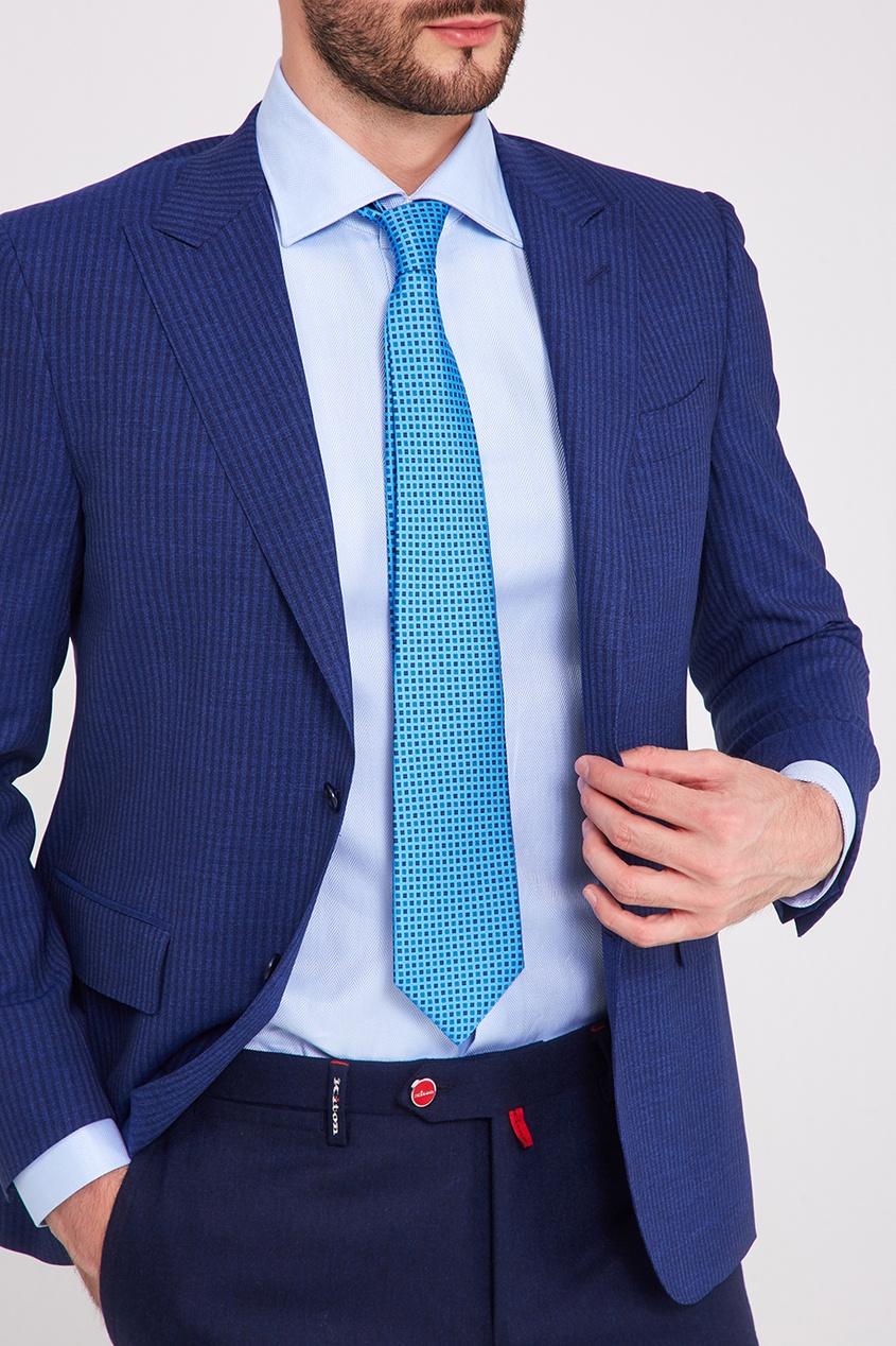 мужские галстуки и бабочки kiton, голубые