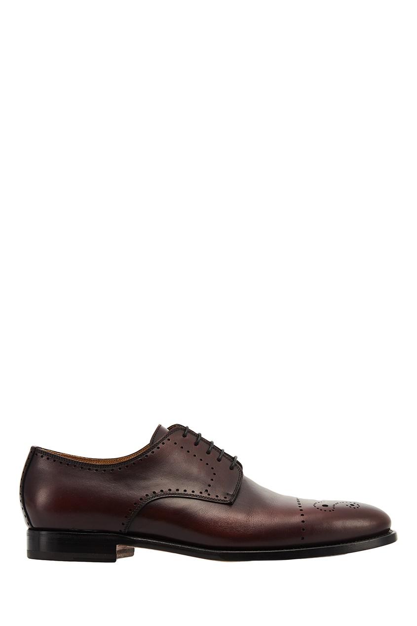 мужские ботинки kiton, красные