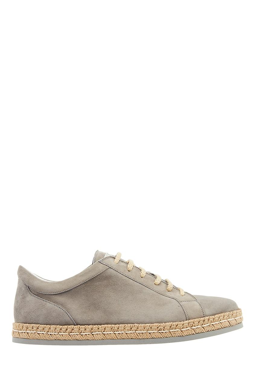 Купить Замшевые ботинки с плетеной отделкой от KITON бежевого цвета
