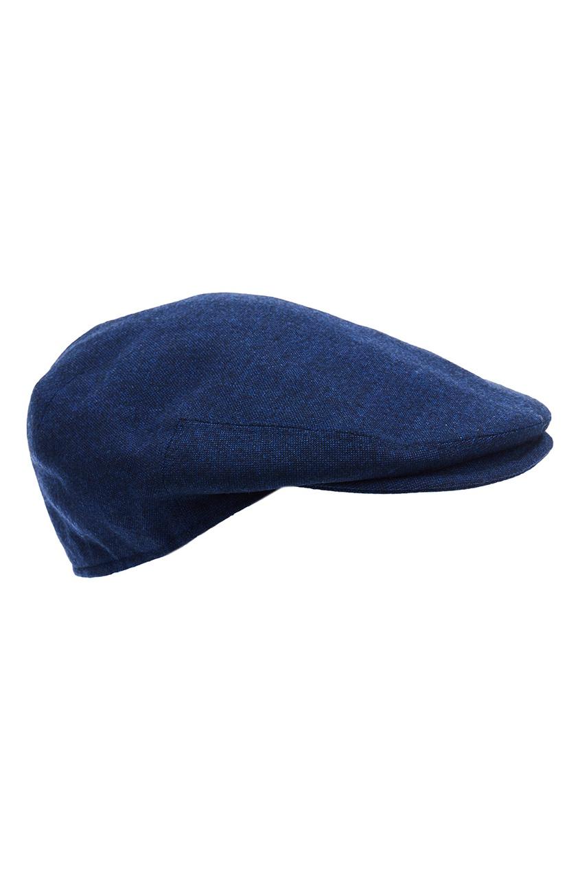 Синяя шерстяная кепка