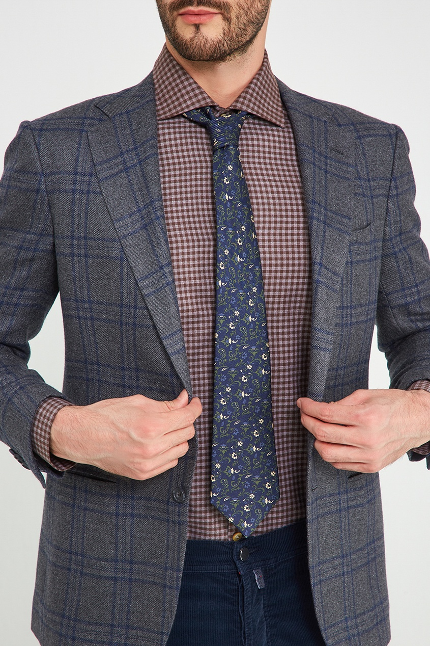 мужские галстуки и бабочки kiton, синие