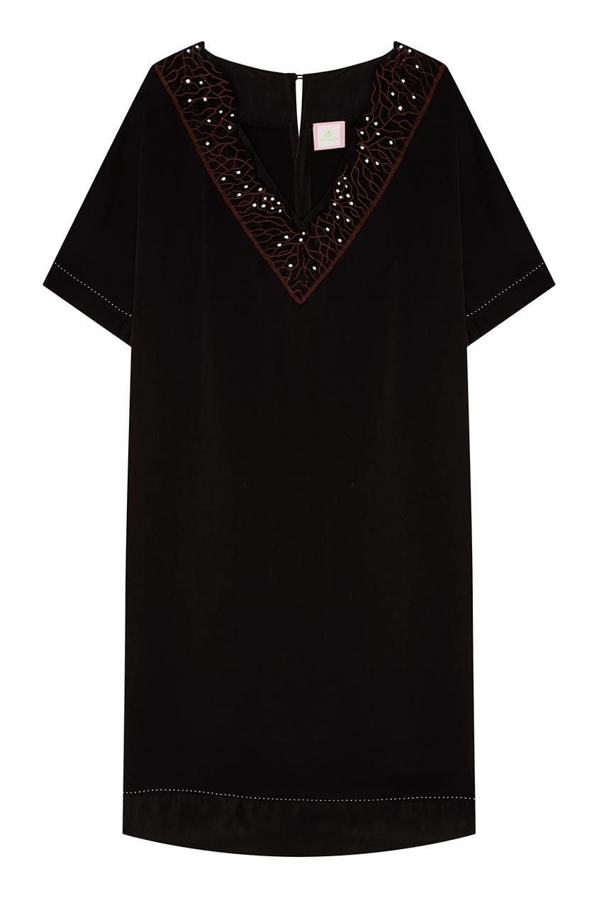 где купить The Dress Черное платье с ажурной отделкой по лучшей цене