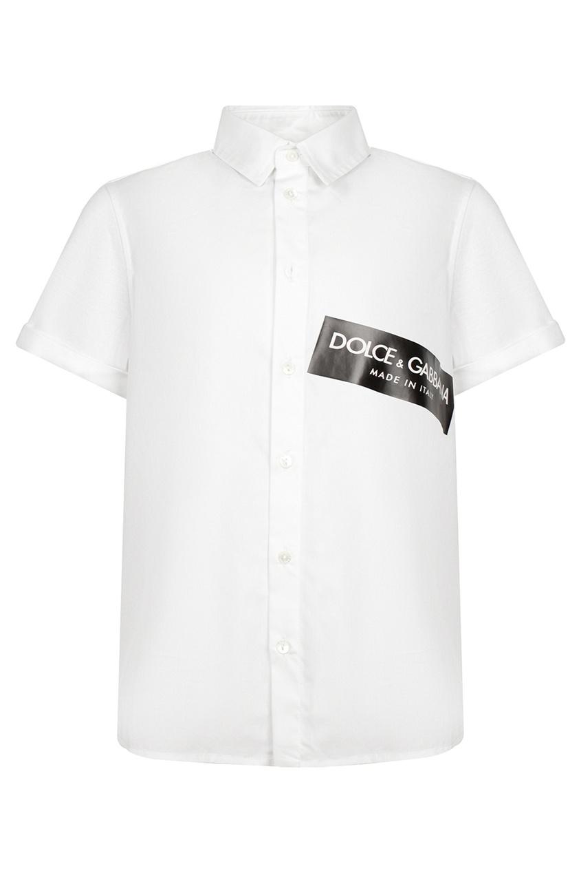 Белая рубашка с логотипом