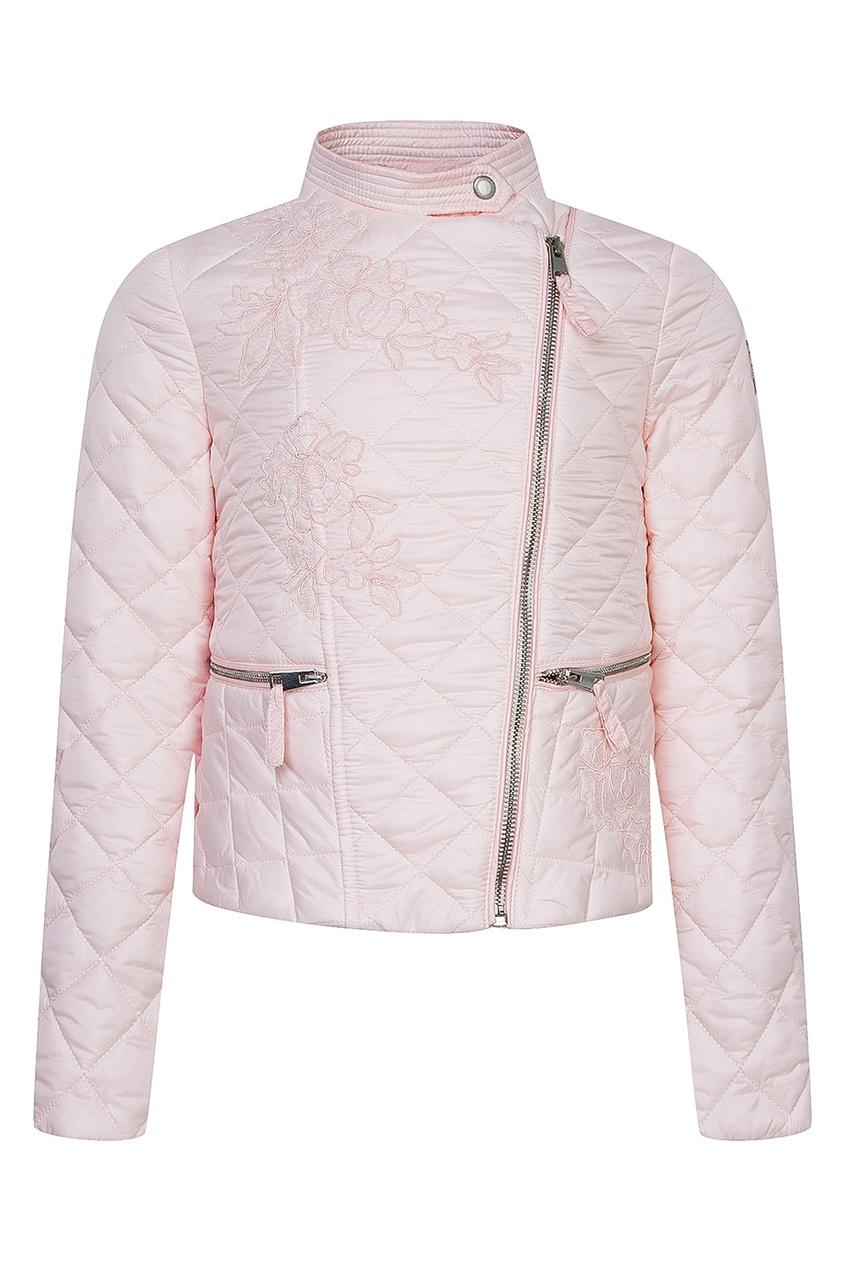 Ermanno Scervino Children Розовая куртка с вышивкой
