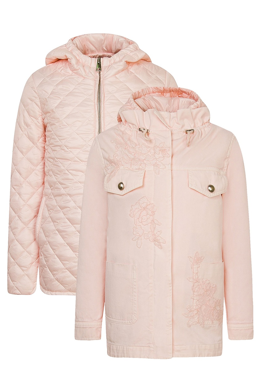 Купить Двухсторонняя розовая куртка от Ermanno Scervino Children розового цвета