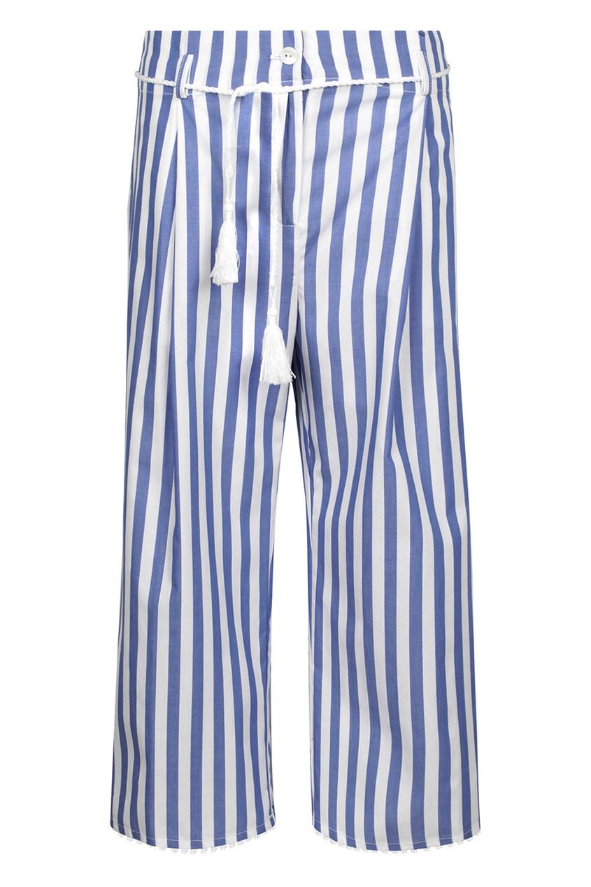 Ermanno Scervino Children Хлопковые брюки в полоску