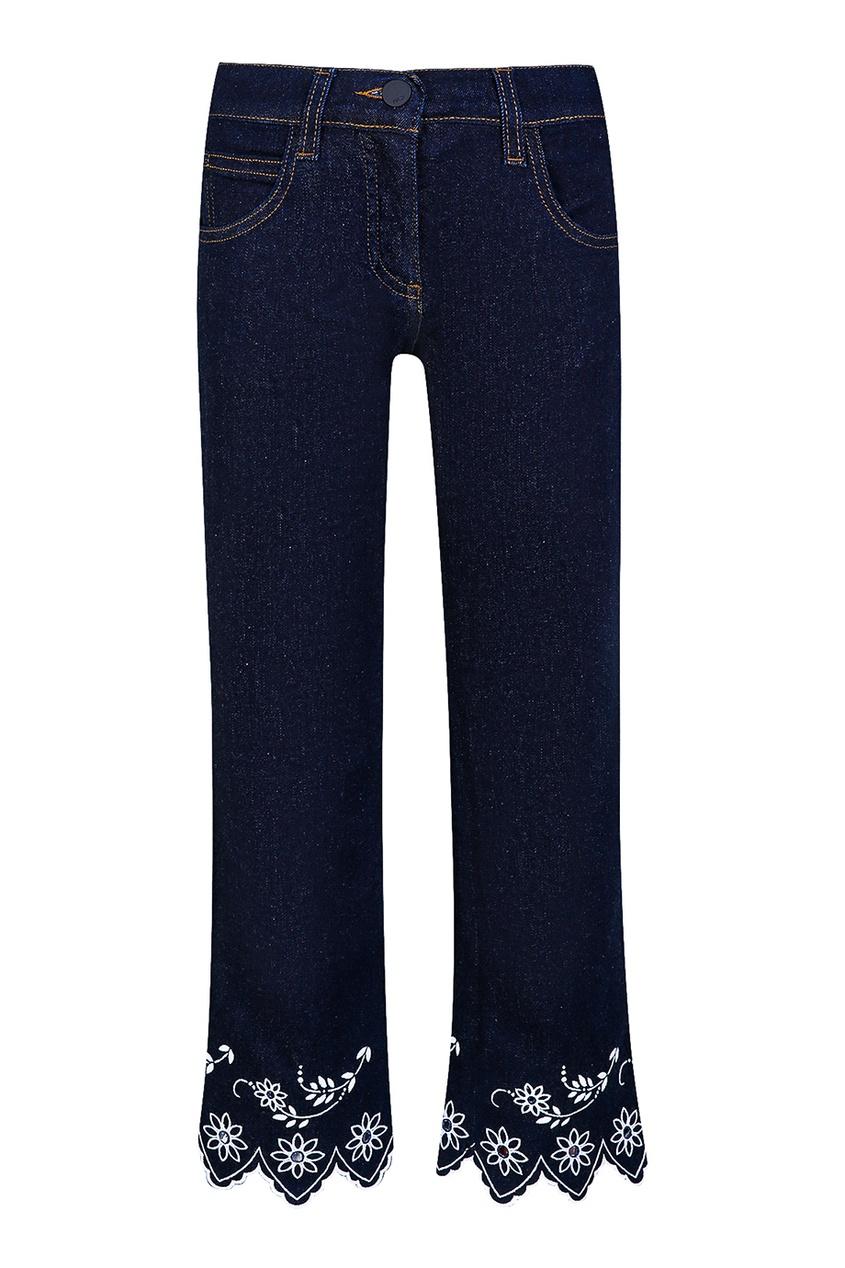 Темно-синие джинсы с отделкой от Fendi