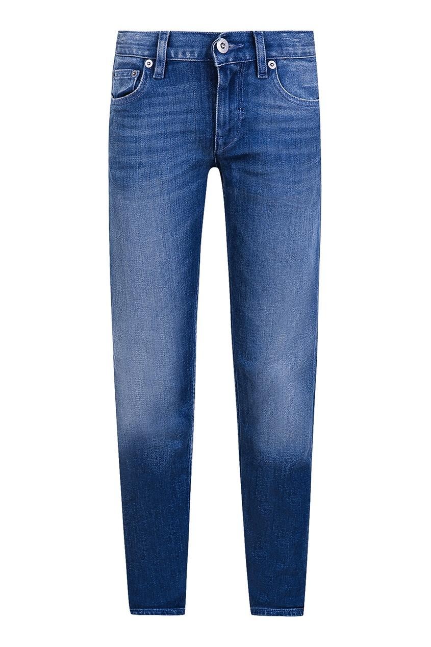 Зауженные синие джинсы от Stone Island Kids