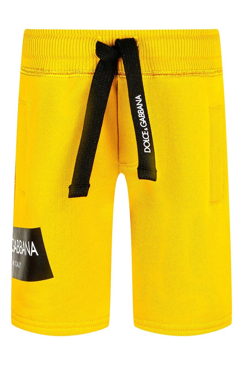 Желтые шорты из трикотажа