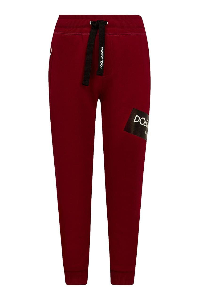 Dolce&Gabbana Children Красные брюки с логотипом
