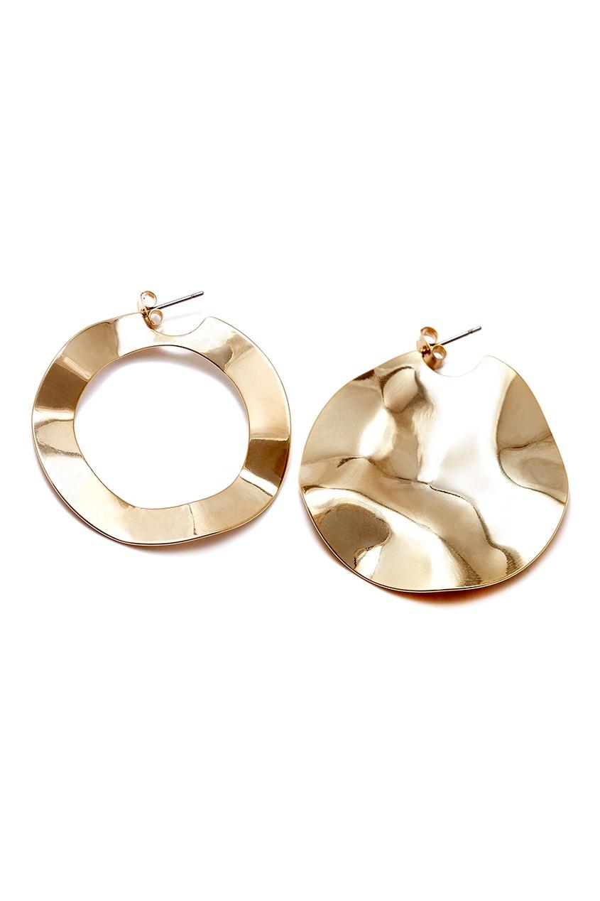 Золотистые асимметричные серьги