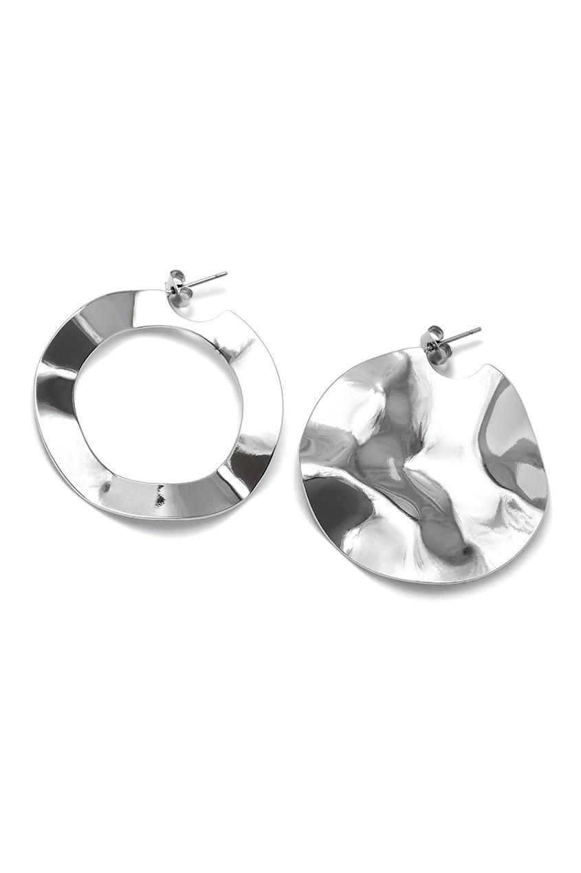 Серебристые асимметричные серьги