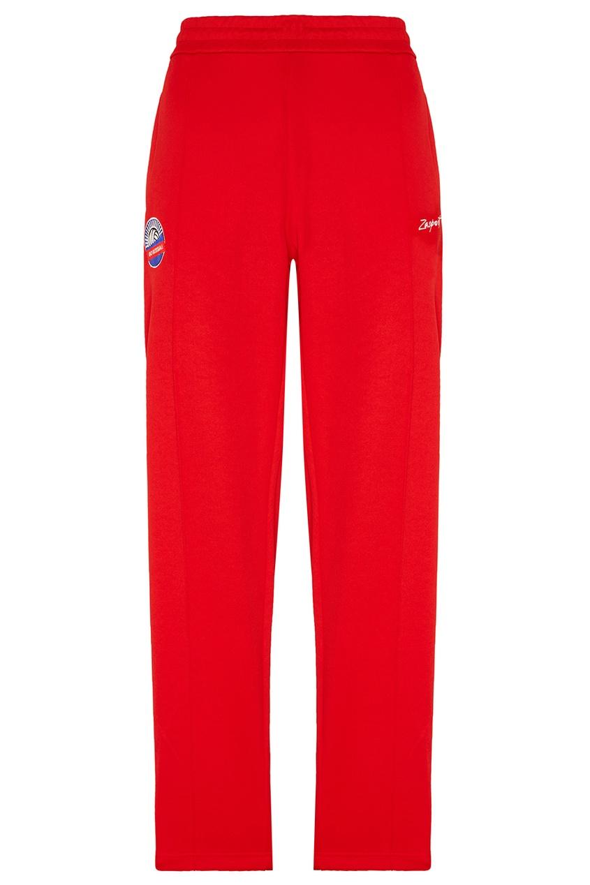 Купить со скидкой Красные брюки с лампасами