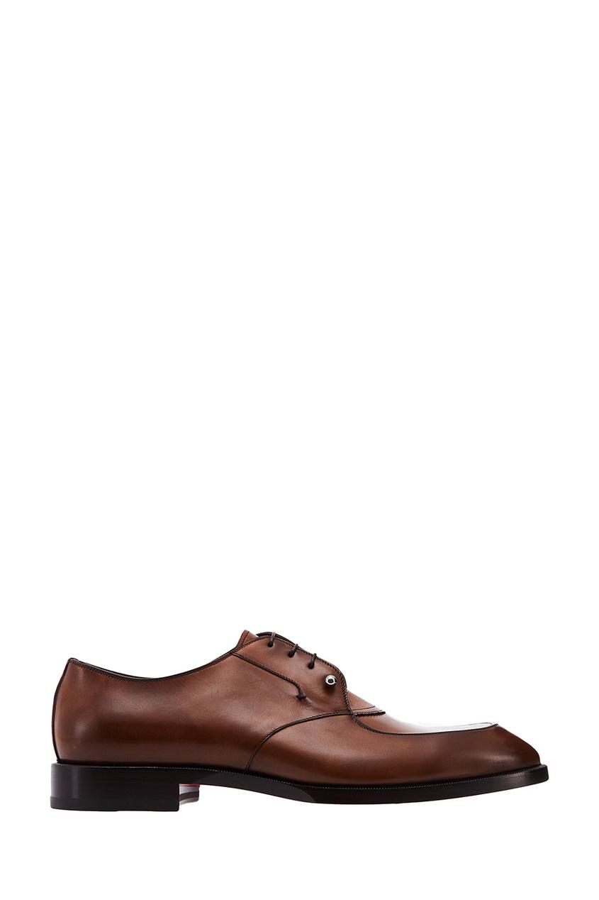 мужские туфли christian louboutin, коричневые