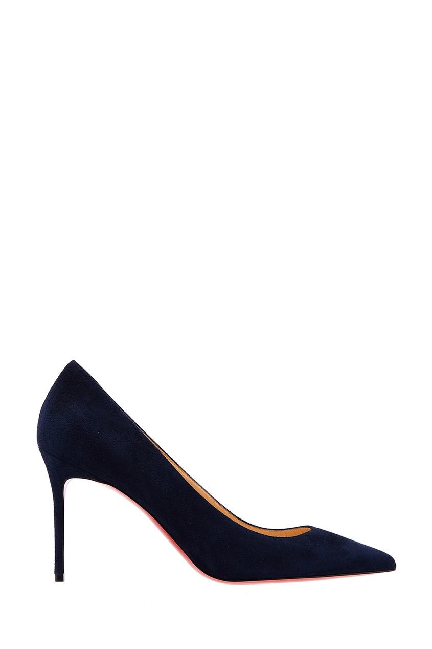 Синие замшевые туфли Decolette 85 Christian Louboutin
