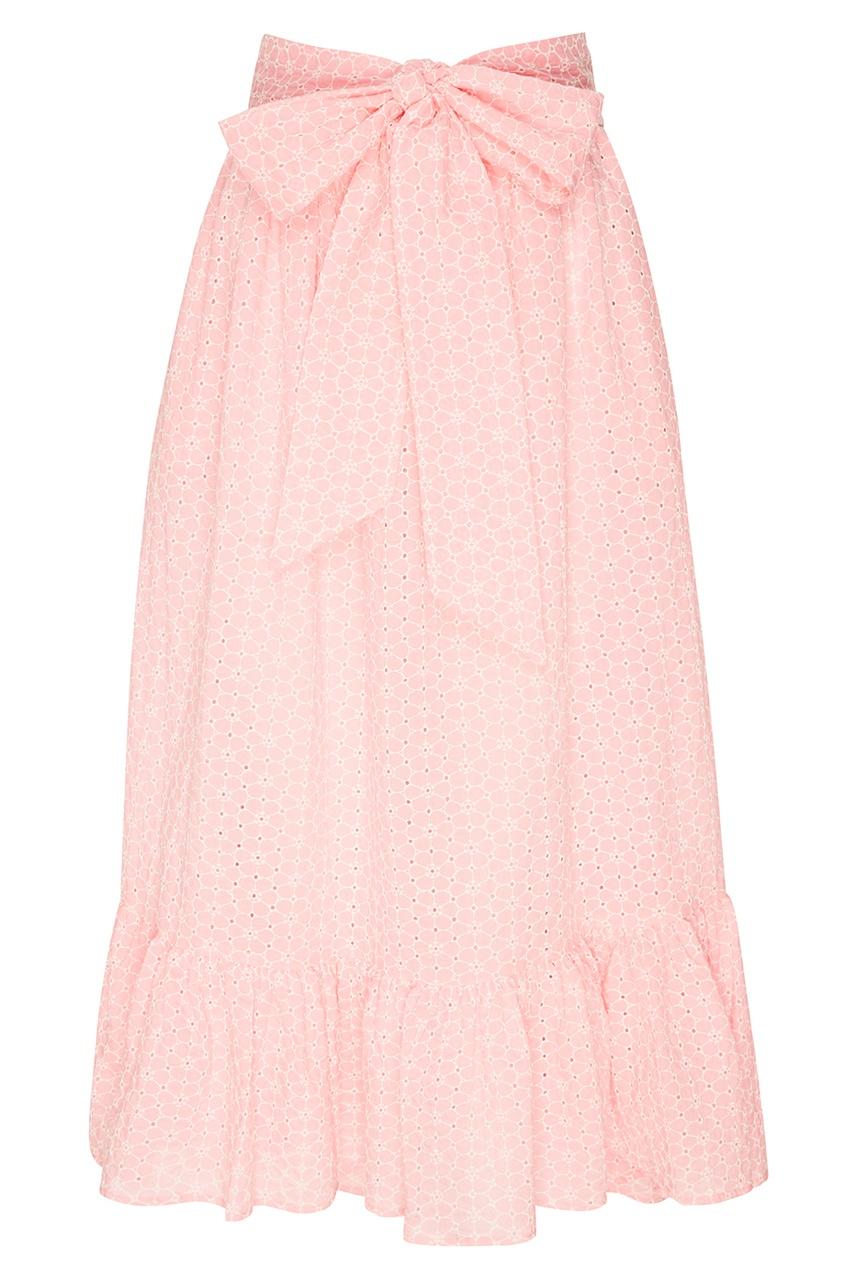 Розовая юбка с ажурной отделкой Lisa Marie Fernandez